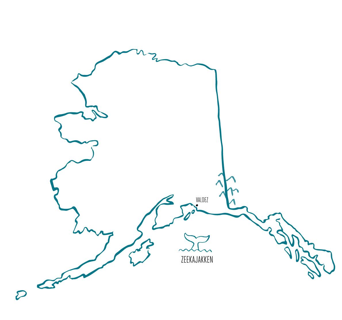 Zeekajakken Valdez